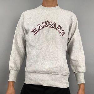 Vintage 90s Harvard reverse weave crewneck